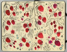 http://pencil-pop.blogspot.com.au/search/label/Illustration - cool strawberry pattern idea