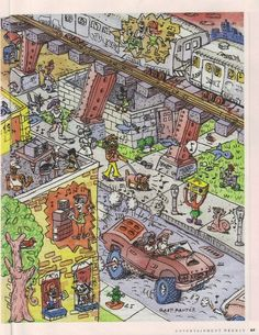 Gary Panter in Entertainment Weekly 1990's