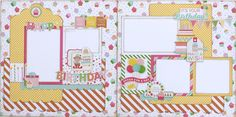 It's time to celebrate and eat cake with this two page layout kit from Paisleys and Polka Dots. #scrapbooklayouts #birthday #echoparkpaper #celebrate #kits