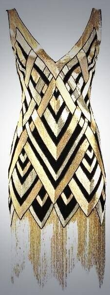 Not this dress but we should do an awesome black and gold dress since they're very gatsby
