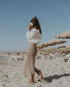 🐚 🌊 Fashion Blogger Style, Look Fashion, Korean Fashion, Fashion Beauty, Beach Style Fashion, Girl Fashion, 2000s Fashion, Knit Fashion, Fashion Fall