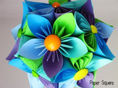 Spring Kusudama Flower Ball by PaperSquare.deviantart.com on @DeviantArt