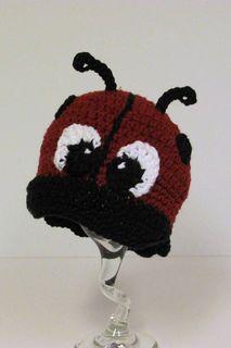Ladybug Newsboy Cap - $4.99 by Cyprianne Nolan of Speckled Frog Crochet