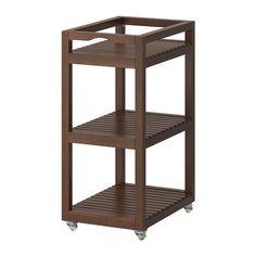 IKEA - MOLGER, Chariot, brun foncé, , Facile à déplacer - roulettes incluses. 35 €