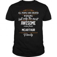 MCARTHUR Name tee Shirts