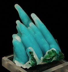 Outstanding Chrysocolla Stalactite - The Mineral and Gemstone Kingdom