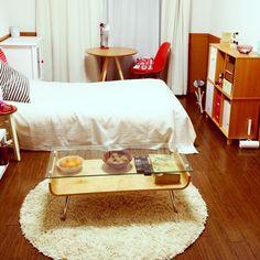 1K/ガラステーブル/一人暮らし/一人暮らし部屋全体/部屋全体のインテリア実例 - 2013-01-06 21:31:51 | RoomClip(ルームクリップ)