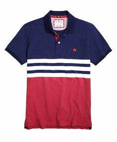 Engineered Stripe Polo - Brooks Brothers