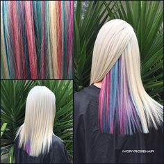 Frosty blonde with Underlights using #adorehaircolor by @cureplex_australia