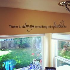 """There's always something to be thankful for"" Wall Quotes™ decal"