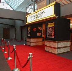 Broadway Theme Entry Way Broadway Party, Broadway Wedding, Dance Themes, Prom Themes, Movie Themes, Bat Mitzvah Themes, Bat Mitzvah Party, Bar Mitzvah, Red Carpet Theme