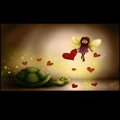 L.o.v.e. #love #turtle #fairy #hearts #digitalart