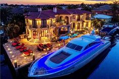 Imagine parking your yacht in front of your waterfront Mansion | Luxury Hotels, Luxury Yachts, Dream Houses, A Yacht, Dream Boards, Luxury Living, House Goals, Luxury Lifestyle, The House