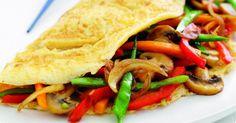 Stir-fried vegetable omelette #HealthyEggMeals
