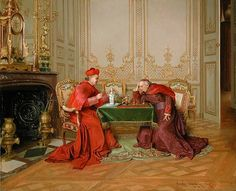 Kept in Check by Belgian Painter Georges Croegaert 1848-1923