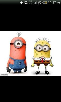Spongebob and patrick minions