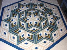 cc  log cabin quilt patterns | Diamond Log Cabin Star quilt pattern | Craft Ideas