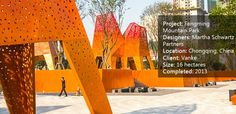 Fengming Mountain Park, a Dynamic Urban Experience with Unique Elements of Color - Landscape Architects Network