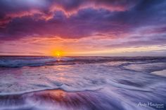 ~ Fire In The Sky ~  By Andy Hutchinson Location: Sunrise over the Pacific at Seven Mile Beach