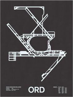Image of ORD: Chicago O'Hare International Screenprint.  This would be fun for Andy.