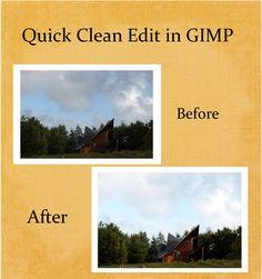 Quick Clean Edit in GIMP - Sommerfugl Design | Sommerfugl Design