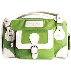 Cheeky Lime Classic Shoulder Bag (Green, Cream Trim) CL-CLA-LG | B&H Photo Video. I like that this isn't black...