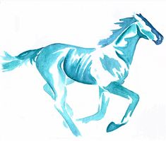 i want a tattoo like this but more colorful and i want it to be a native american horse with paint on it and a feather in its hair