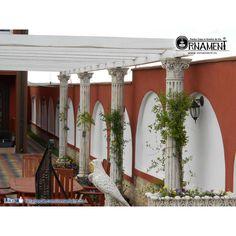 Coloana Ornamentala din beton in Stilul Corintic Gazebo, Outdoor Structures, Greece, Kiosk, Pavilion, Cabana