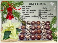 Vánoční cukroví 2015 | u Henriety Christmas Candy, Christmas Baking, Christmas Wreaths, Xmas, Czech Recipes, Yummy Cookies, Holiday Cookies, Sweet Recipes, Baking Recipes