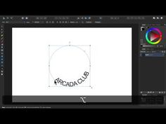 "Affinity Designer - Tutorial 19 - Draw a quick ""Scroll Shape"" with a text on a path - YouTube"