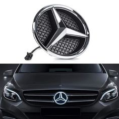 Mercedes Benz AMG Bearfire Car Front Grilled Star Emblem LED Illuminated Logo Center Front Badge Lamp Light
