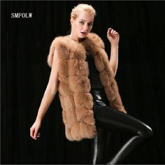 S-10XL Female Fur Waistcoat 2017 New Winter Warm Faux Fox Fur Vest Women High-Grade Cappa Fashion O-Neck Long Fur Coat Cardigan *** AliExpress Affiliate's buyable pin. Find similar products on www.aliexpress.com by clicking the image #Womensfauxfurcoats