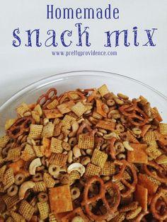 Homemade Snack Mix, Any Flavor! Soooo easy and Soooo good!