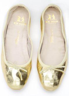 Gold_Porselli_BalletFlats_En_Soie_Shoes-B