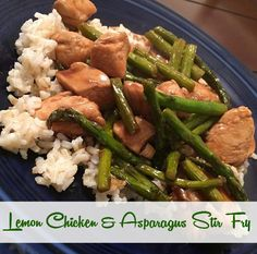 Wife Mommy Me: Let's Eat! :: Lemon Chicken & Asparagus Stir Fry #recipe #dinner #quick #healthy #stirfry