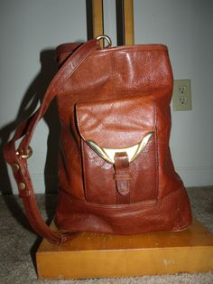 Leather back pack!