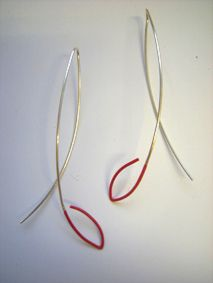 Petra Bishai - drop-seed-earrings-satin-red  http://www.petrabishai.co.uk/