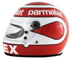 O inconfundível capacete de Nelson Piquet.