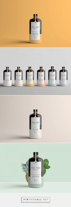 Muse + Metta Is Serving Up Flavor With Beautiful Minimalistic Packaging - a beautiful range of light pastel tones to compliment the dark bottle. Skincare Packaging, Beauty Packaging, Cosmetic Packaging, Brand Packaging, Packaging Ideas, Design Packaging, Bottle Packaging, Innovative Packaging, Pretty Packaging