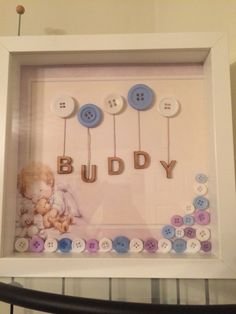 Personalised Button Art Frames More