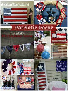 DIY Patriotic Decor-- really nice ideas to convert here