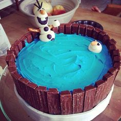 Disney Frozen birthday cake with Olaf cakes cupcakes cookies