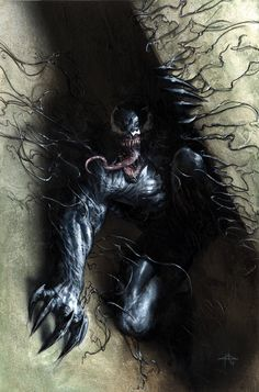 """When Eddie Brock acquires the powers of a symbiote, he will have to release his alter-ego """"Venom"""" to save his life. Marvel Villains, Marvel Characters, Marvel Heroes, Marvel Now, Marvel Comics Art, Comic Art, Comic Books Art, Punisher, Dc Universe"""