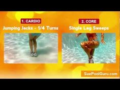 Glam Legs & Sleek Abs- Aqua Aerobic Exercise- http://www.SuePoolGuru.com - YouTube