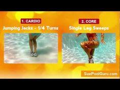 Glam Legs & Sleek Abs- Aqua Aerobic Exercise- http://www.SuePoolGuru.com - YouTube
