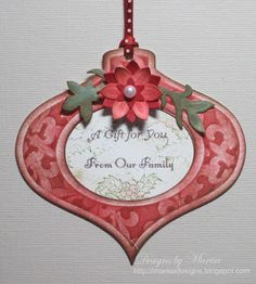 Designs by Marisa: Embossed Christmas Tags