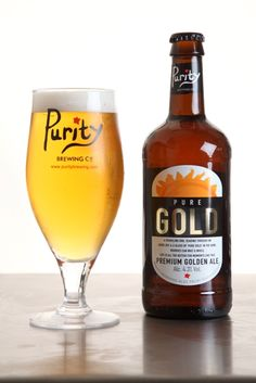 Bottled Pure Gold, by Purity Brewing Co