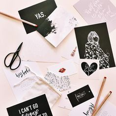 """Organizing leads to reminiscing slash realizing how much stationery we've accumulated which leads to us thinking maybe we need to sell some """"grab bags"""" of old items like these🤔 #thewildetribe"""