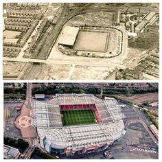 Old Trafford n & t Football Stadiums, Football Soccer, Man Utd Fc, Official Manchester United Website, Sports Stadium, Manchester United Football, Football Pictures, Old Trafford, Man United