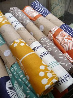 Lotta Jansdotter fabric. Love!